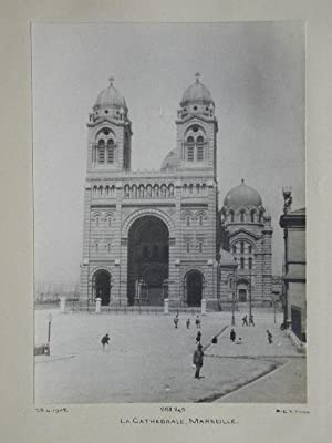 Marseille Cathedral, France.: Vintage Photograph.