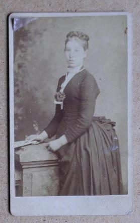 Carte De Visite Photograph: A Studio Portrait of a Young Woman.
