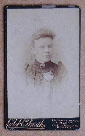 Carte De Visite Photograph: A Portrait of a Young Woman.