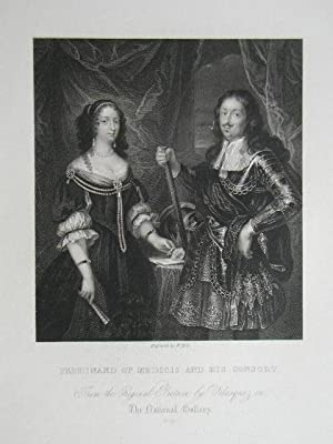 Ferdinand Of Medicis And His Consort. From: Steel Engraving