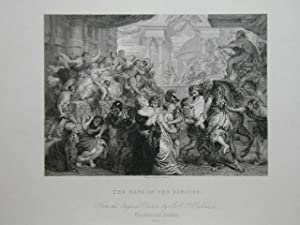 The Rape Of The Sabines. From the: Steel Engraving