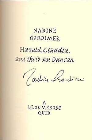 Harald, Claudia and their son Duncan *SIGNED First Edition*: GORDIMER, Nadine