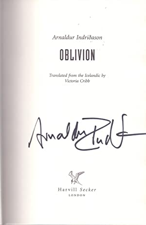 Oblivion *SIGNED First Edition*: INDRIDASON, Arnaldur