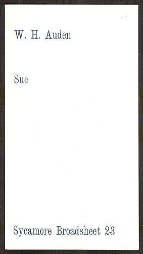 Sue *First Edition*: AUDEN, W.H.