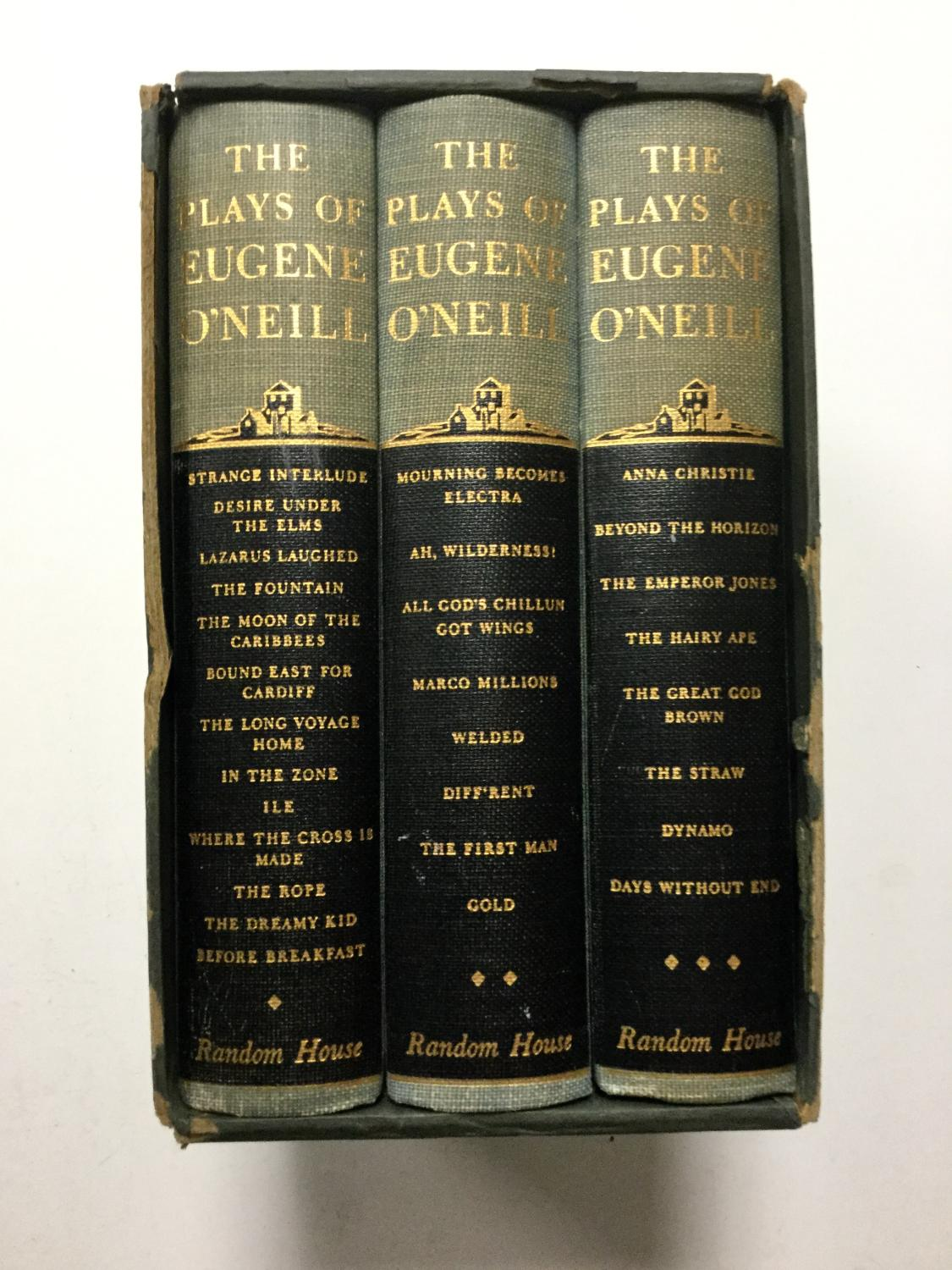 The_Plays_of_Eugene_O'Neill_(Complete_Set_in_3_Volumes)_O'Neill,_Eugene_[Very_Good]_[Hardcover]