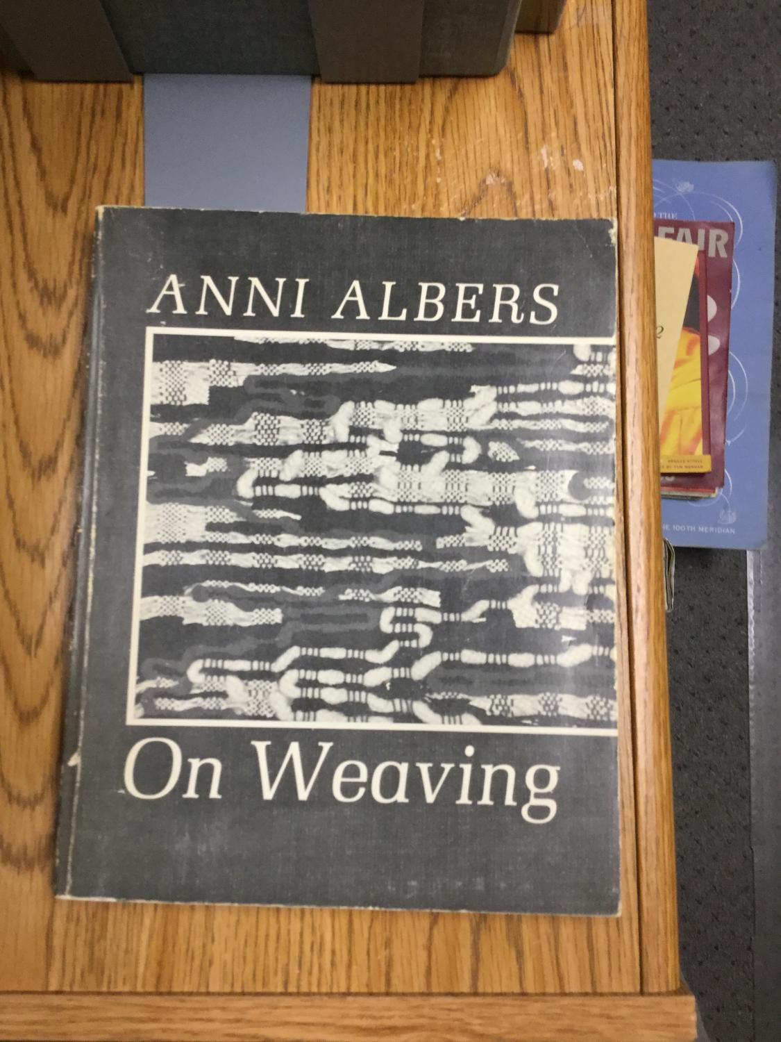 On_Weaving_Albers_Anni_Very_Good_Softcover
