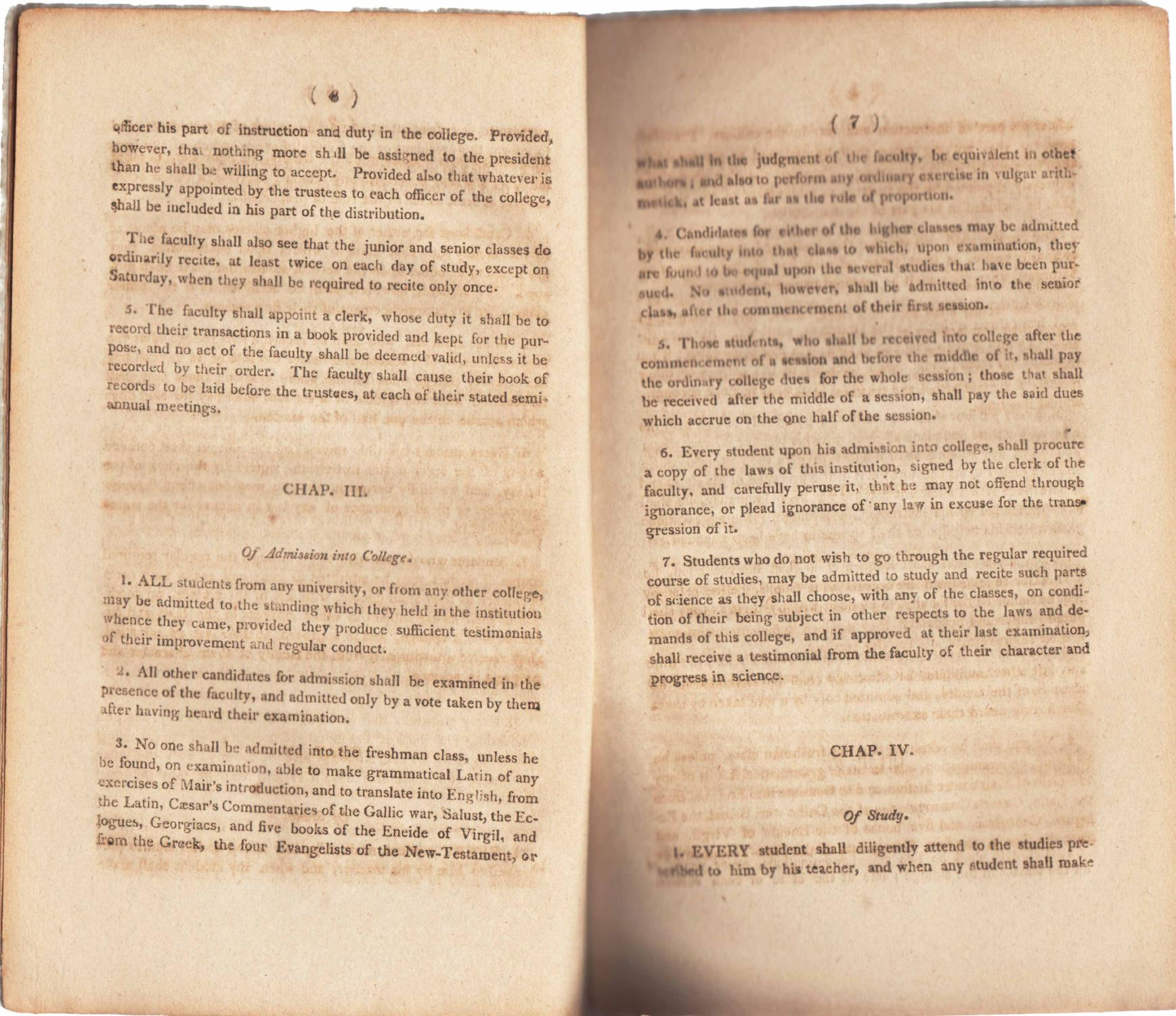 THE LAWS OF QUEEN'S COLLEGE IN NEW JERSEY (