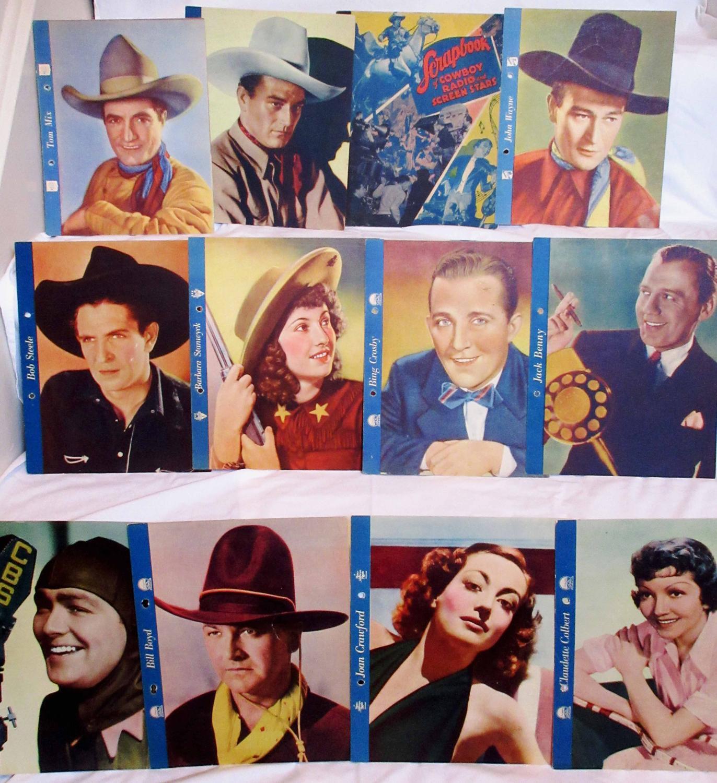"1936 DIXIE CUP """"SCRAPBOOK OF STARS"""" PHOTO PREMIUMS COMPLETE SET (24) Entertainment"