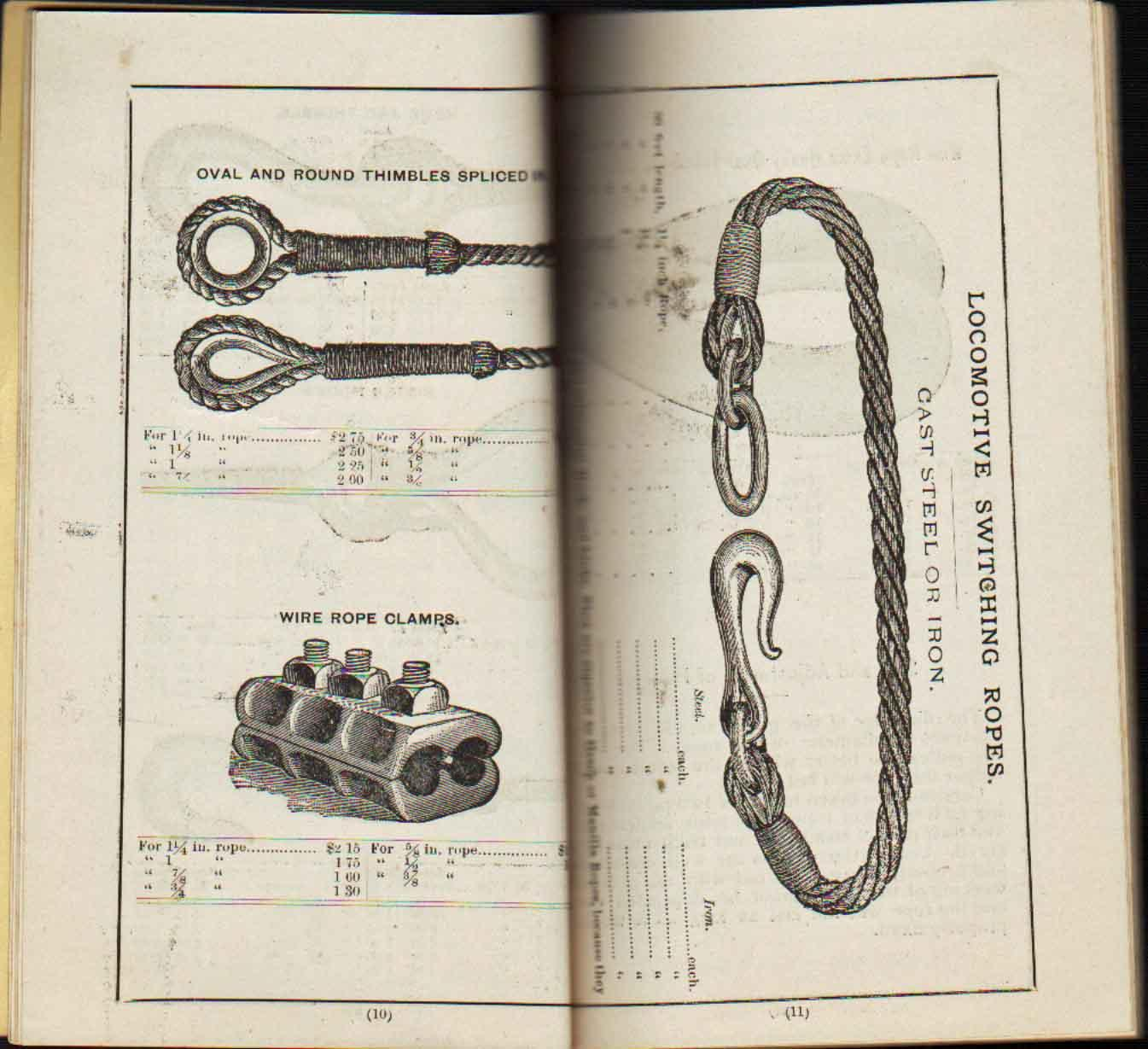 WILLIAMSPORT WIRE ROPE COMPANY, WILLIAMSPORT, PA. Price List by ...