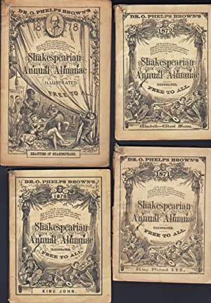 1871, 1872, 1876 & 1878 SHAKESPEARIAN ANNUAL ALMANAC ILLUSTRATED: Various Contributors