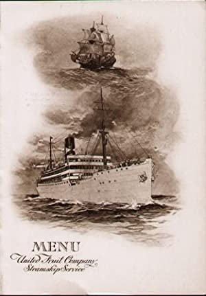 "MENU, UNITED FRUIT COMPANY STEAMSHIP SERVICE ""T.S.S. CALAMARES"" Luncheon Menu, March 8, ..."