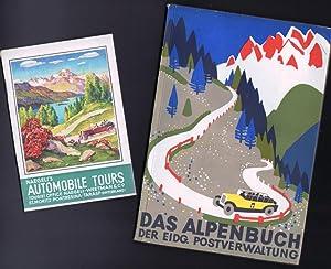 DAS ALPENBUCH DER EIDG. POSTVERWALTUNG & NAEGELI'S AUTOMOBILE TOURS: Various Contributors