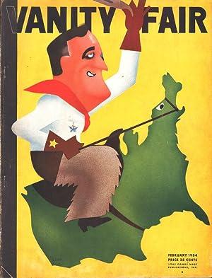 VANITY FAIR, KALEIDOSCOPIC REVIEW OF MODERN LIFE (2/1934) Volume 41, No. 6: Crowninshield, ...