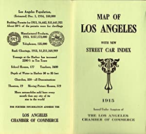 MAP OF LOS ANGELES WITH NEW STREET CAR INDEX