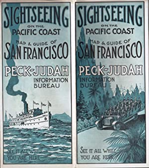 SIGHTSEEING ON THE PACIFIC COAST, MAP AND GUIDE OF SAN FRANCISCO PECK-JUDAN INFORMATION BUREAU