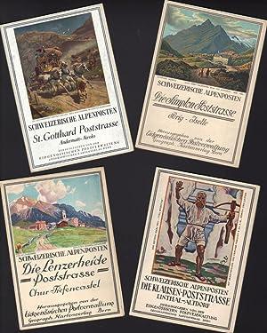 FOUR ISSUES OF SCHWEIZERISCHE ALPENPOSTEN: DIE LENZERHEIDE POSTSTRASSE; DIE KLAUSEN POSTSTRASSE, ...