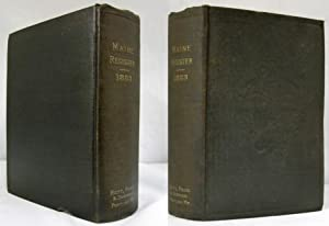 MAINE STATE YEAR- BOOK AND LEGISLATIVE MANUAL FOR THE YEAR 1883-84 From April 1, 1883 to April 1, ...