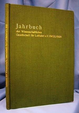 JAHRBUCH DER WISSENSCHAFTLICHEN GESELLSCHAFT FUR LUFTFAHRT E.V. (WGL): Various Contributors