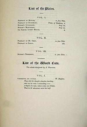 HUDIBRAS (3 VOLS) , 1819 & THE GENUINE POETICAL REMAINS OF SAMUEL BUTLER (1 VOL) , 1827 (4 ...