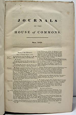 JOURNALS OF THE HOUSE OF COMMONS (1839, VOLUME 94) From February the 5th,1839, In the Second Year ...