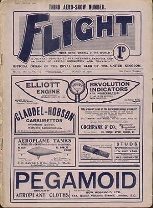 FLIGHT: OFFICIAL ORGAN OF THE ROYAL AERO CLUB OF THE UNITED KINGDOM No. 65 (No. 13, Volume II) ...