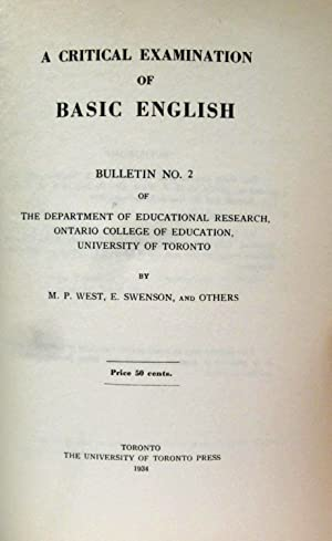 COUNTER-OFFENSIVE, AN EXPOSURE OF CERTAIN MISREPRESENTATIONS OF BASIC ENGLISH: Orthological ...