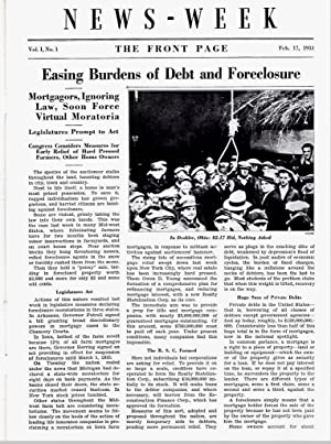 NEWS-WEEK (VOLUME 1, NO. 1, FEBRUARY 17, 1933): Various Contirbutors