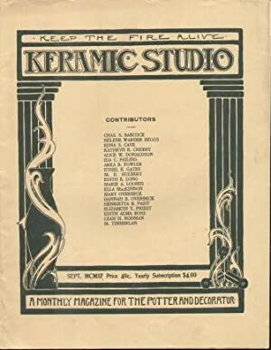 KERAMIC STUDIO (SEPTEMBER 1911) VOL. XIII. NO.5 A Monthly Magazine for the Potter and Decorator: ...