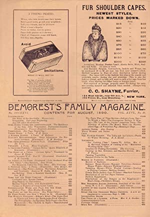 DEMOREST'S FAMILY MAGAZINE (AUGUST 1890) Vol. XXVI, NO. 10: Various Authors