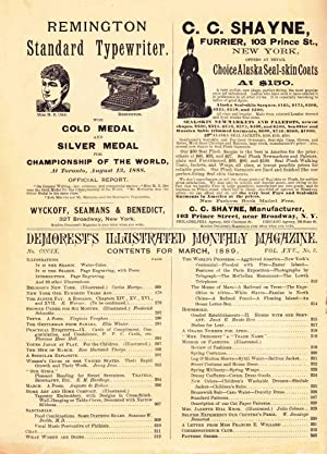 DEMOREST'S MONTHLY MAGAZINE MARCH 1889 (VOL. XXV, NO. 5): Various Authors