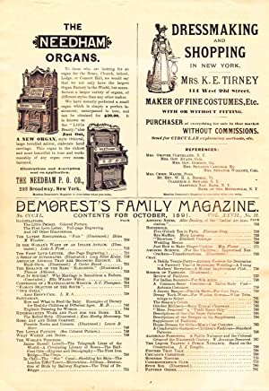 DEMOREST'S FAMILY MAGAZINE OCTOBER 1891 VOL. XXVII, NO. 12: Various Authors