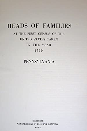 HEADS OF FAMILIES AT THE FIRST CENSUS OF THE UNITED STATES TAKEN IN THE YEAR 1790: Government ...