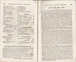 THE ILLUSTRATED FAMILY MEDICAL ALMANAC FOR THE UNITED STATES 1856: Robinson, Horatio N.