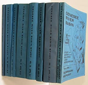 GENESEE RIVER BASIN STUDY OF WATER AND RELATED LAND RESOURCES (8 VOLUMES & PACKET OF 5 MAPS)
