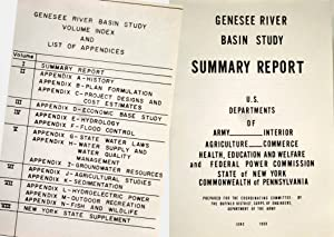 GENESEE RIVER BASIN STUDY OF WATER AND RELATED LAND RESOURCES (8 VOLUMES & PACKET OF 5 MAPS): ...