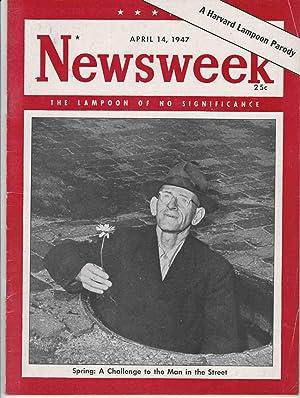 A HARVARD LAMPOON PARODY OF NEWSWEEK MAGAZINE: Harvard Lampoon (Talcum