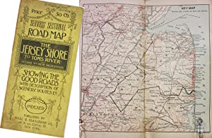 SERVOSS' SECTIONAL ROAD MAP OF THE JERSEY SHORE TO TOMS RIVER AND INLAND TO NEW BRUNSWICK, SHOWIN...