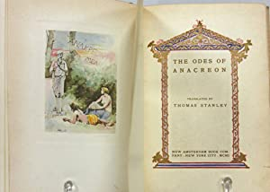 THE ODES OF ANACREON (1901, LIMITED & NUMBERED EDITION) Translated by Thomas Stanley: Anacreon