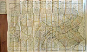RAND MCNALLY & CO'S INDEXED COUNTY AND RAILROAD POCKET MAP AND SHIPPERS' GUIDE OF PENNSYLVANIA AC...