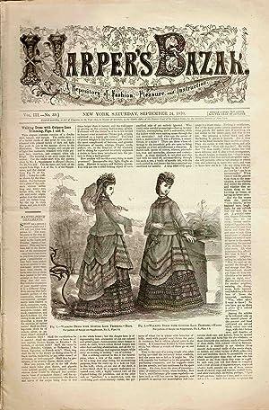 HARPER'S BAZAR (VOL. III, NO. 39) SEPTEMBER 24, 1870 A Repository of Fashion, Pleasure and ...