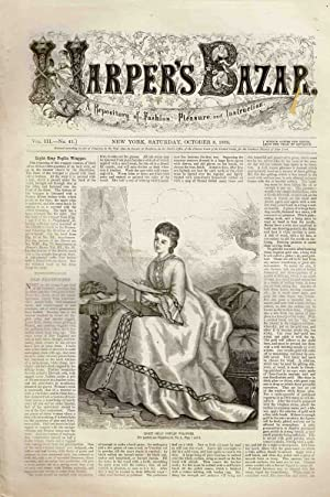 HARPER'S BAZAR (VOL. III, NO.41) OCTOBER 8, 1870 Repository of Fashion, Pleasure and ...
