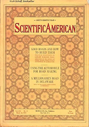 SCIENTIFIC AMERICAN (MARCH 16, 1912) VOL. CVI, NO. 11: Various Contributors