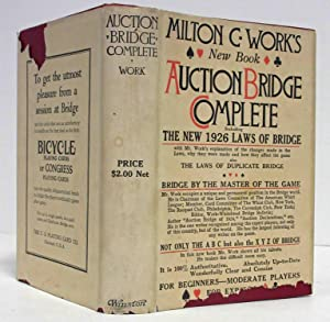 AUCTION BRIDGE COMPLETE (1926, INSCRIBED COPY) The 1926 Official Laws of Auction Bridge & the ...