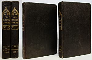 VIRGIL (1840, 2 VOLS) The Classical Library No. 11 & 12 the Eclogues Translated by Wrangham, ...
