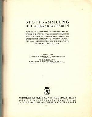 STOFFSAMMLUNG HUGO BENARIO / BERLIN: Lepke, Rudolph