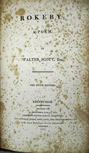 ROKEBY A POEM: Scott, Walter Esq.
