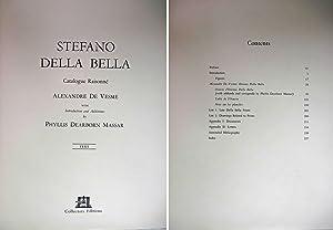 STEFANO DELLA BELLA ( 2 VOLUMES, TEXT & PLATES): De Vesme, Alexandre & Phyllis Dearborn Massar