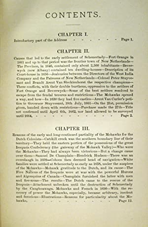 CENTENNIAL ADDRESS RELATING TO THE EARLY HISTORY OF SCHENECTADY And its First Settlers (1879, ...