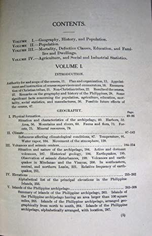 CENSUS OF THE PHILIPPINE ISLANDS: 1903: Sanger, J. P. Gen. (Director)
