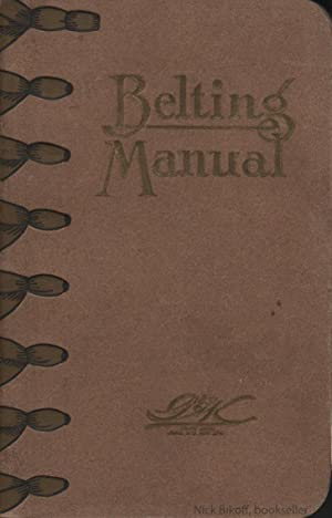 BELTING MANUAL. THE GRATON & KNIGHT MFG. CO.: Graton & Knight